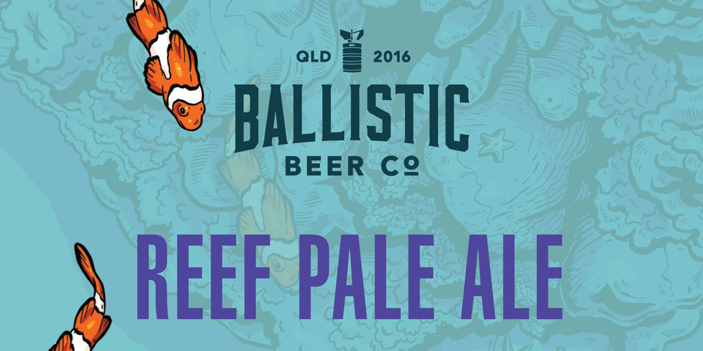 product header for reef pale ale from ballistic beer co