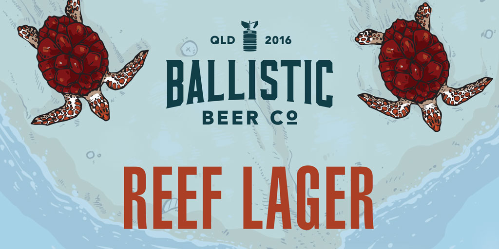 product header for reef lager from ballistic beer co