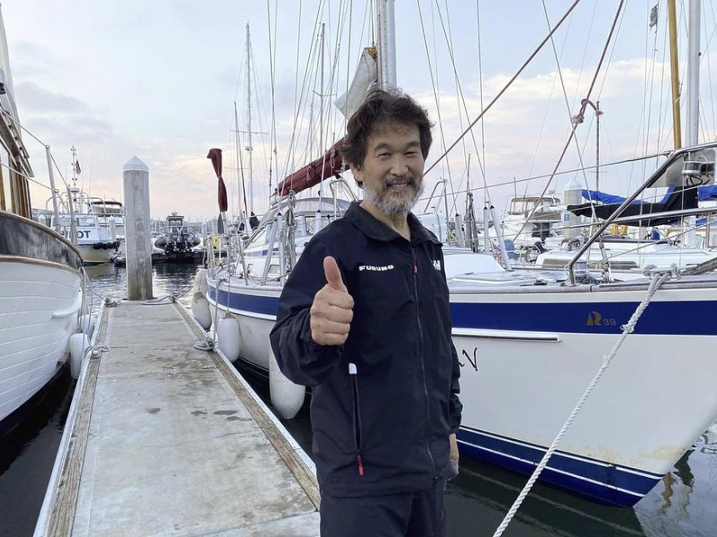 Jiro Shinbo arriving in San Diego