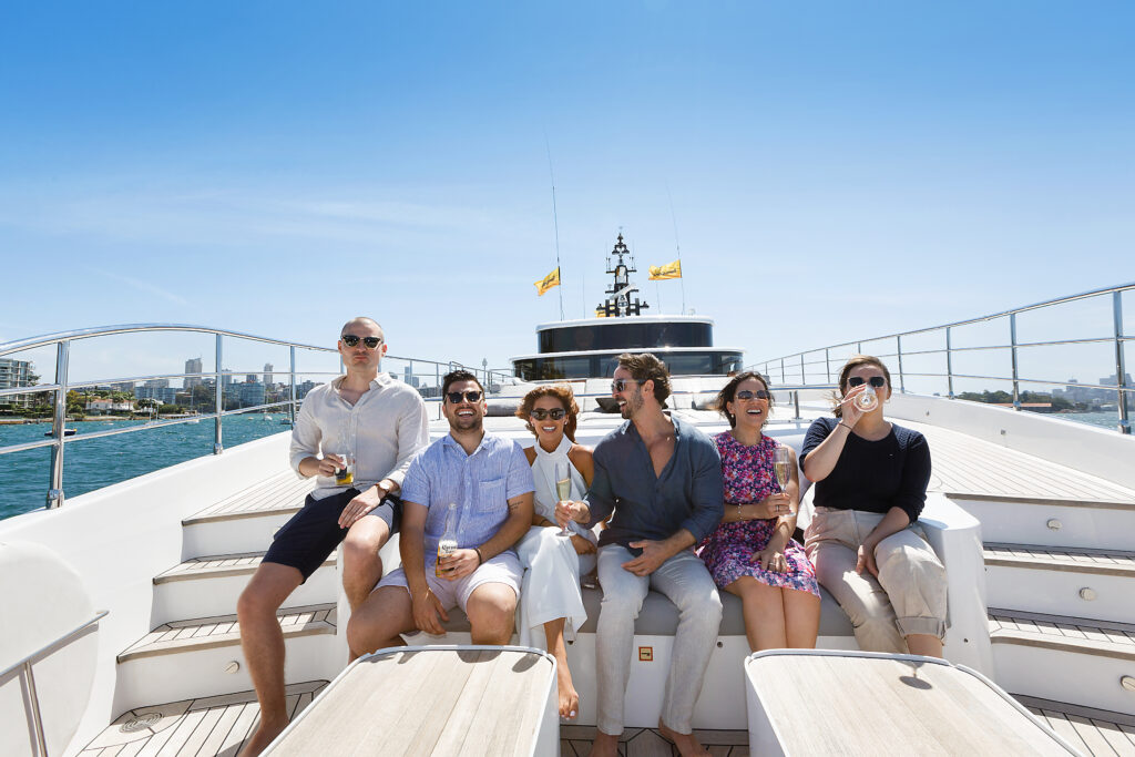 people aboard a charter yacht from Boatingo