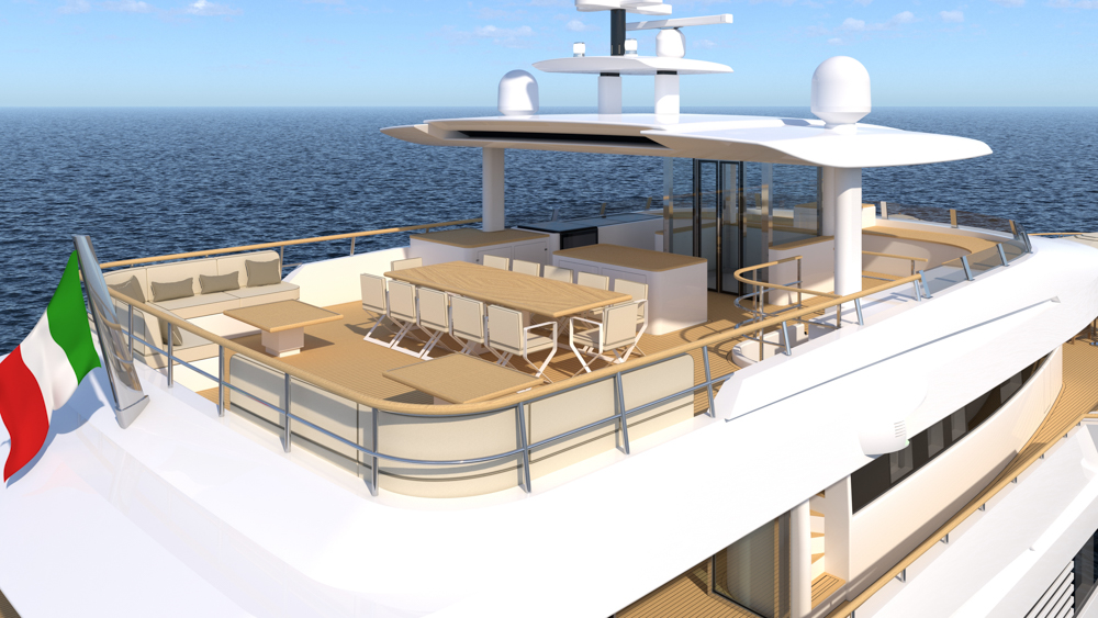 close up of the flybridge onboard the Explorer 49.5