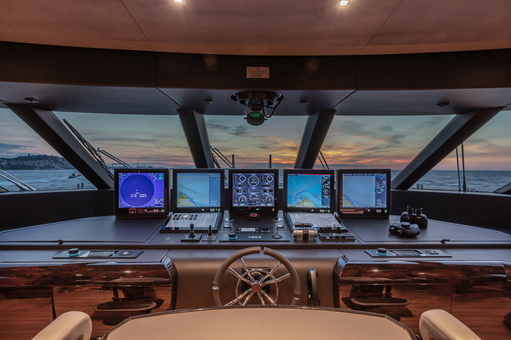 shot of the i-bridge system onboard the Cloumbus Yacht