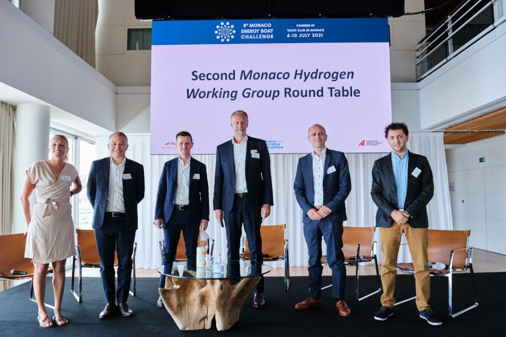 Monaco energy boat round table discussion team