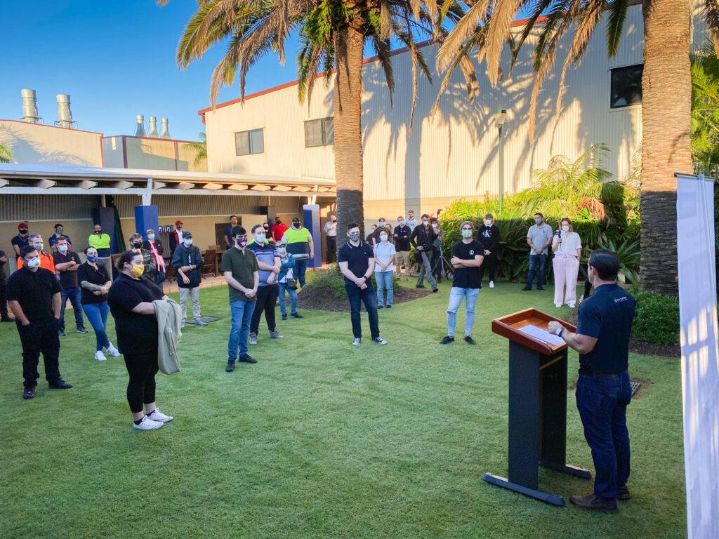 Riviera recruits receive speech from Adam Houlahan