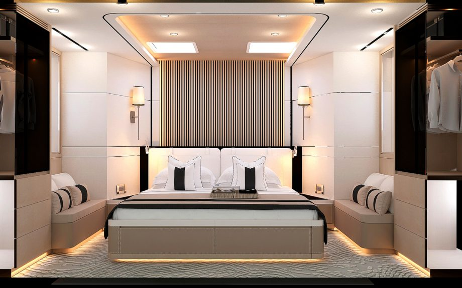 master suite onboard the Bering B72