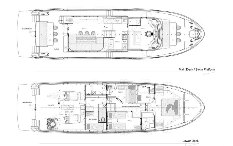 Plan drawings for the Bering B72