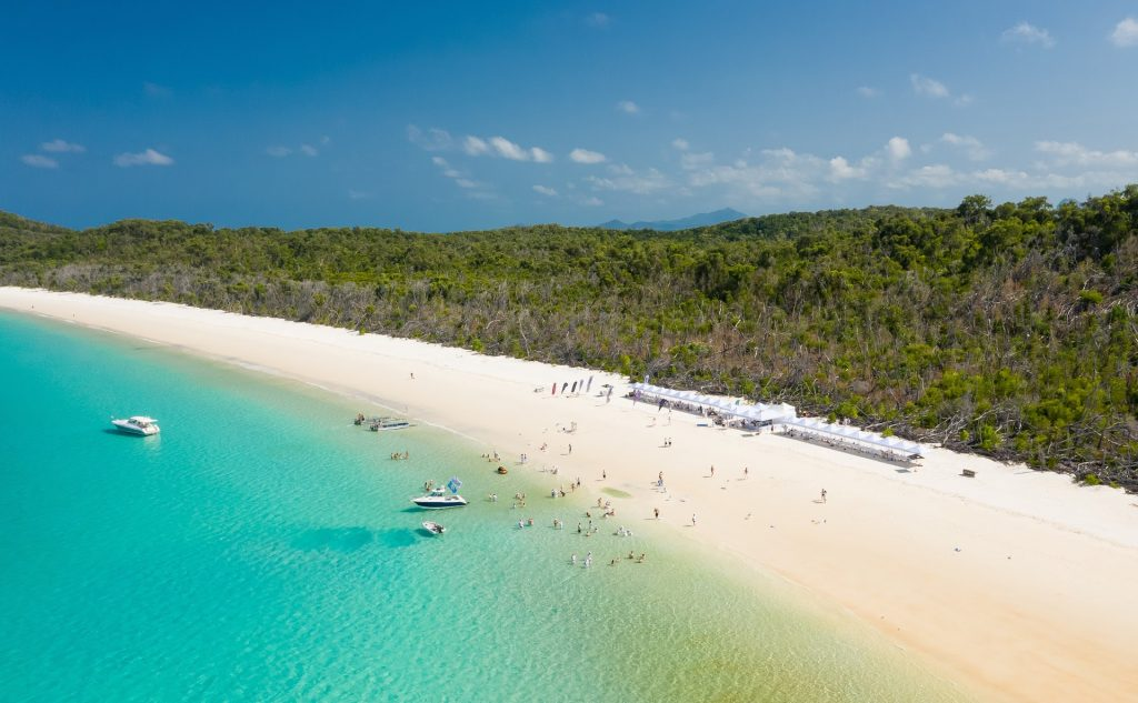 Shot of whitehaven beach during the multihull solutions Whitsundays rendezvous