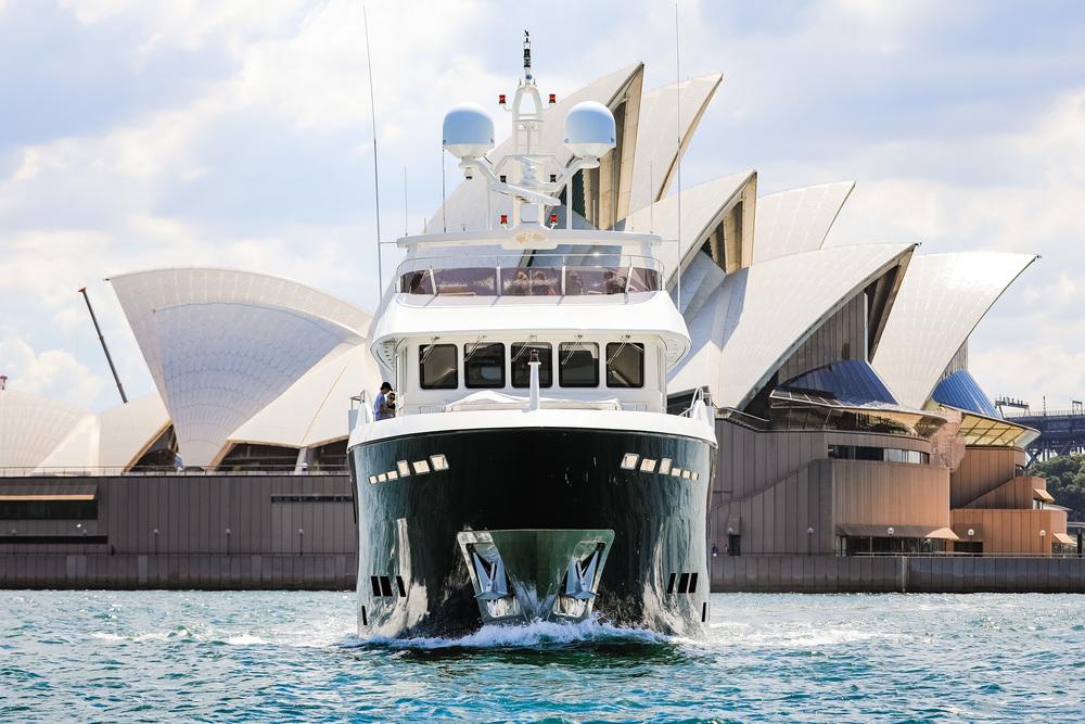 Cantiere Delle Marche vessel infront of Opera House