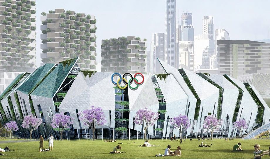 Brisbane Olympics 2032 artists impression for new stadium