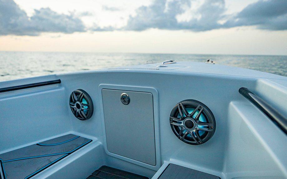 CMSP speakers installed onboard a motor yacht