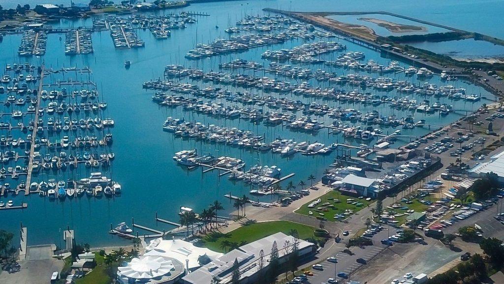 aerial shot of Brisbane yachting expo