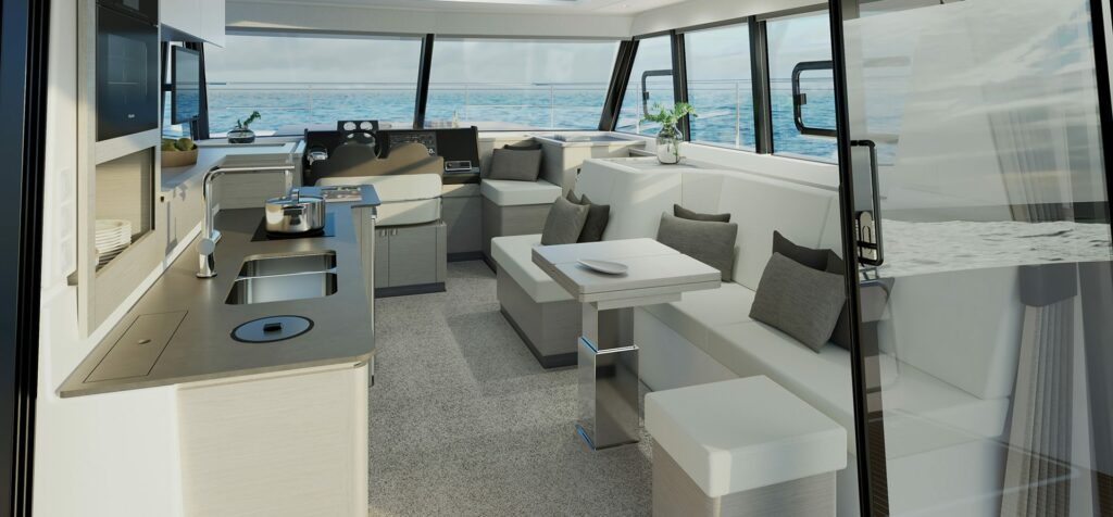 Fountaine Pajot MY4.S living area angle