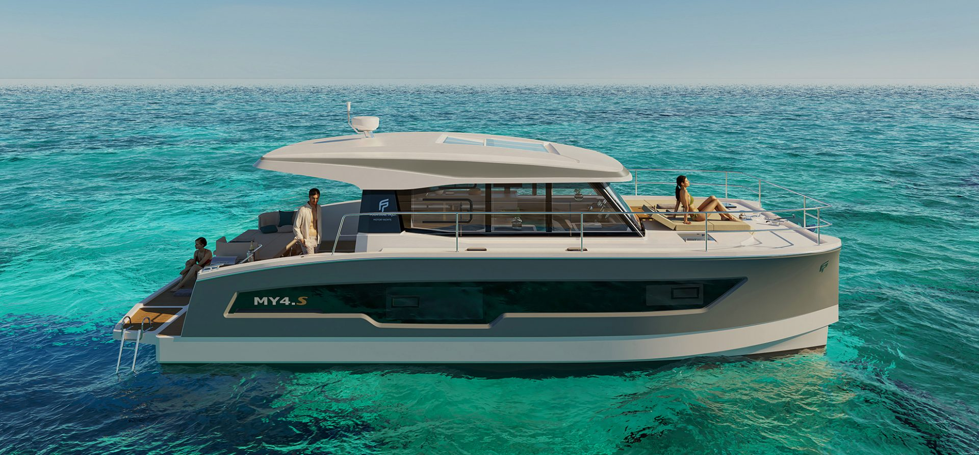 Fountaine Pajot MY4.S anchored side profile