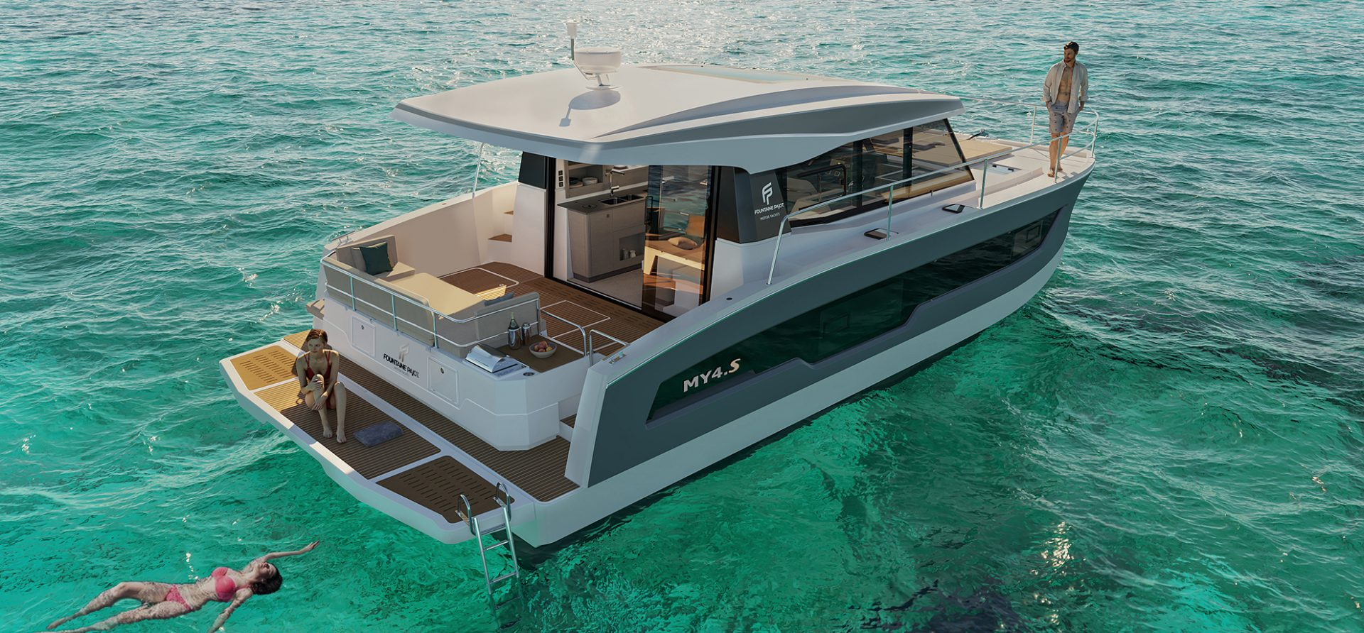 Fountaine Pajot MY4.S aft angle