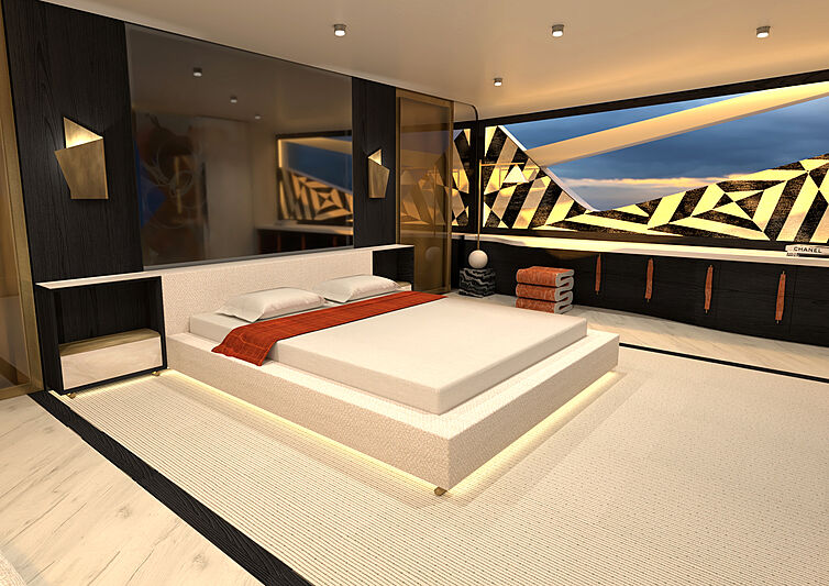 Azurite Yacht Design Infint-e 88 master suite