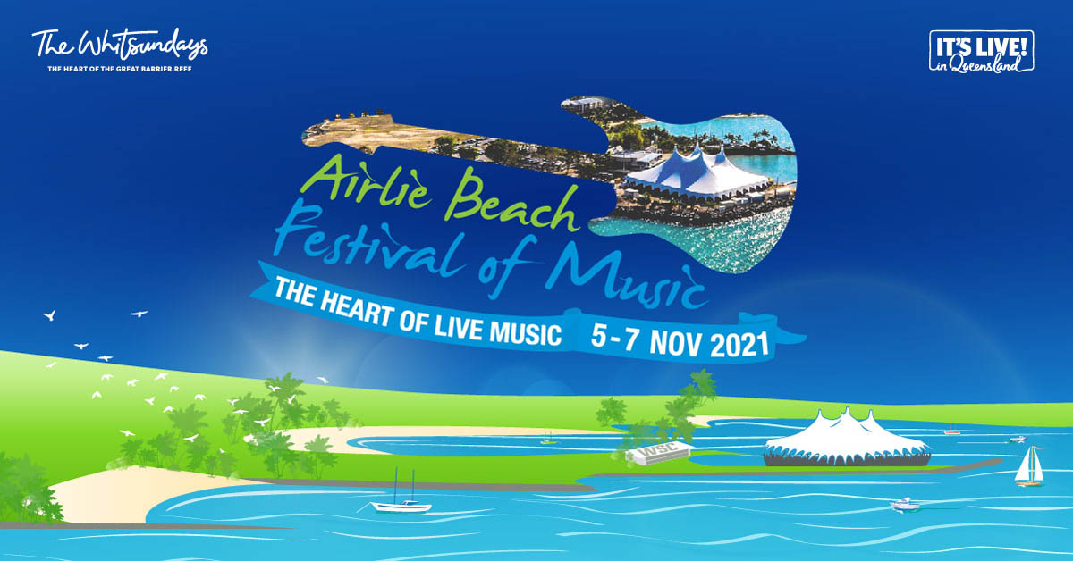 promo graphic for Airlie Beach Festival of Music 2021