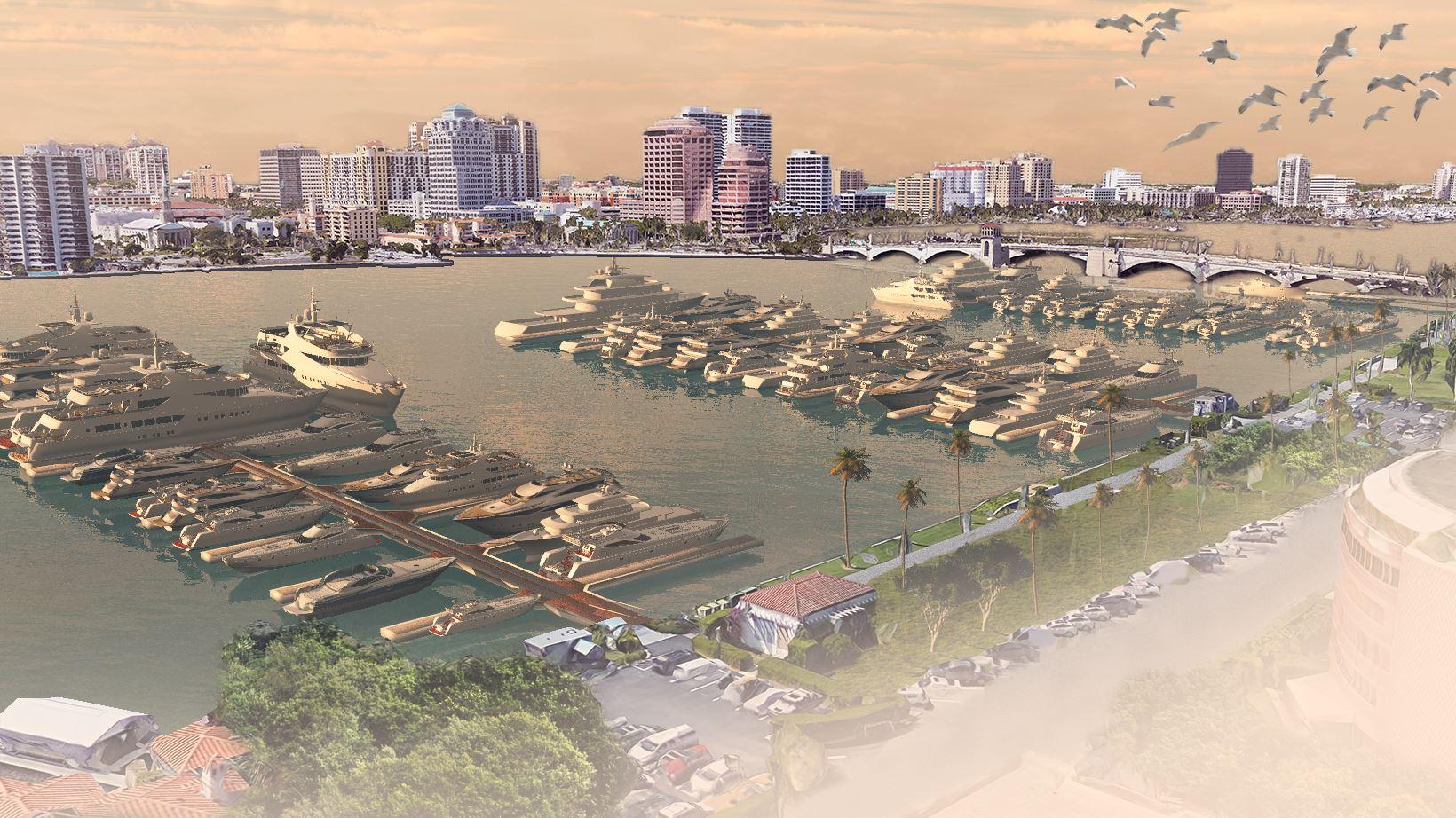 artists impression of Palm Beach Marina renovations