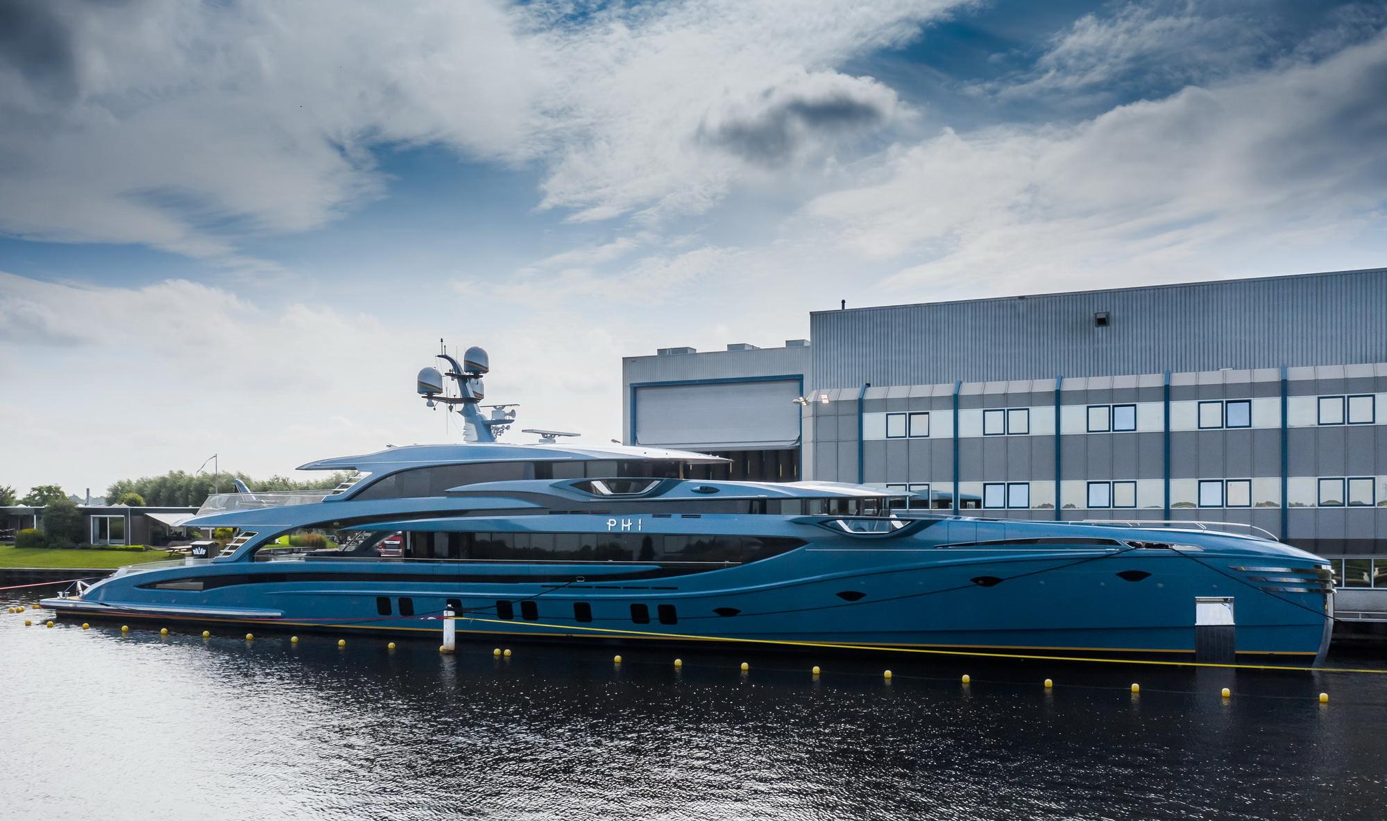 Royal Huisman's project PHI set into water