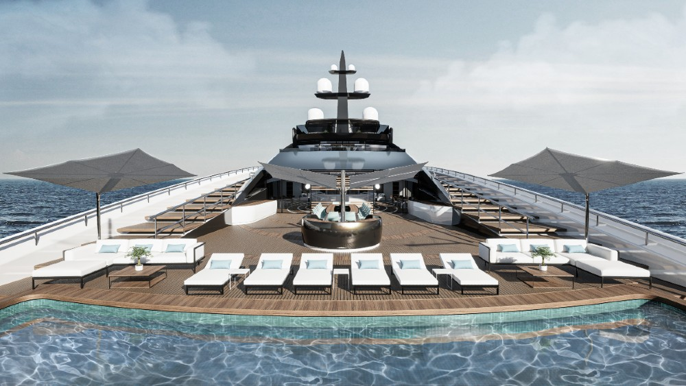 bathing deck onboard Sunrise from Roberto Curto Design