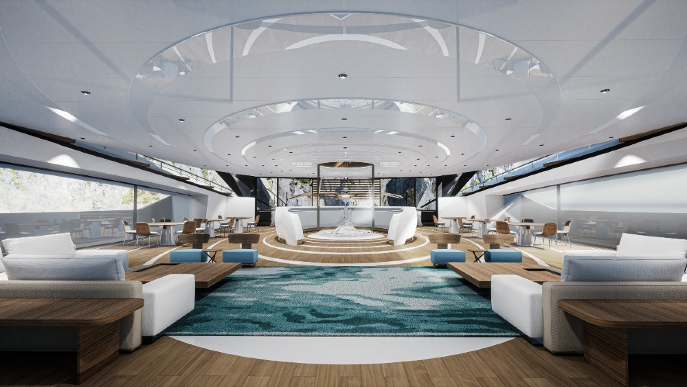 interior onboard Sunrise from Roberto Curto Design