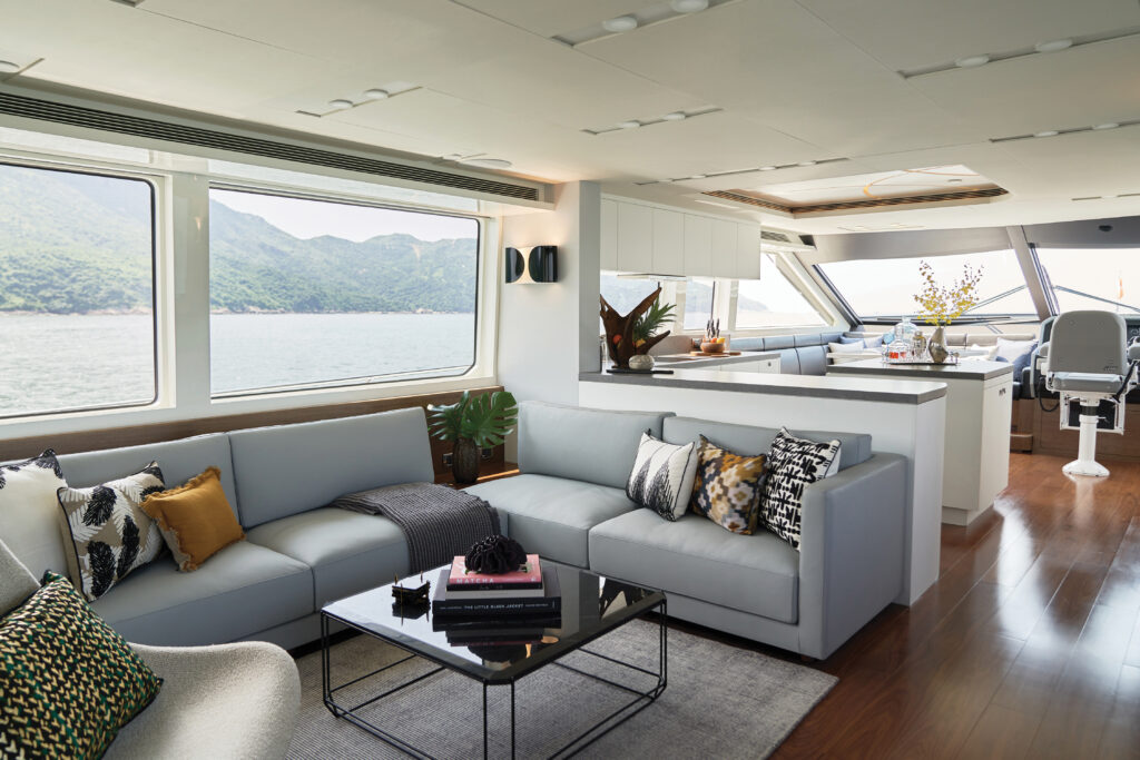 open living area onboard CLB72