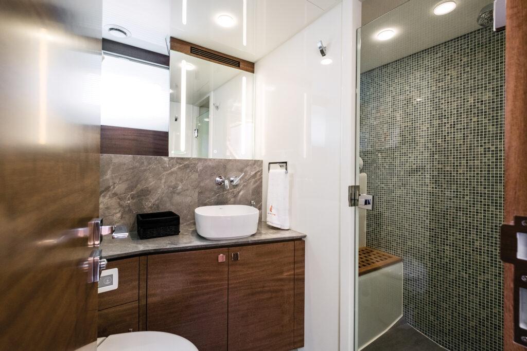 CLB72 bathroom onboard