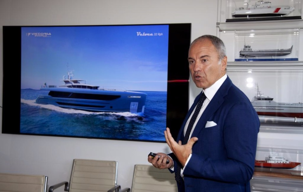 Vittoria Yachts CEO presenting the all new Veloce 32 RPH