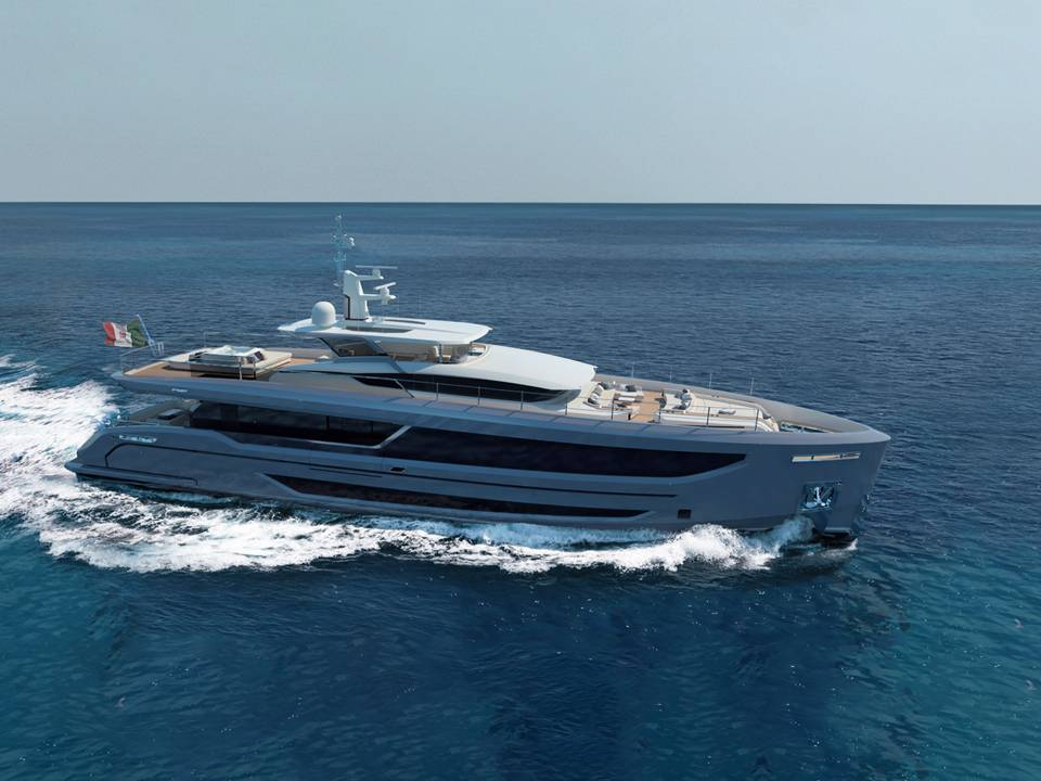 Redner of the new Veloce 32 RPH from Vittoria Yachts