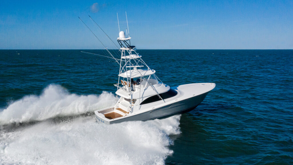 Viking Yachts 54C pictured cruising different angle