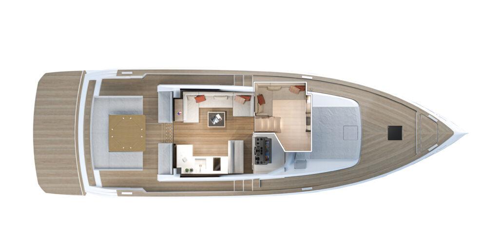 main deck galley plan view