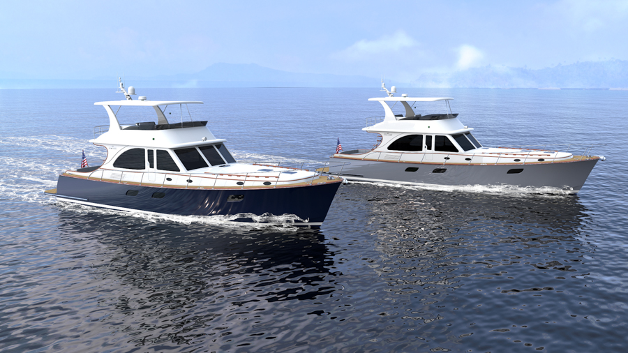 render of the new vicem yachts 65 classic