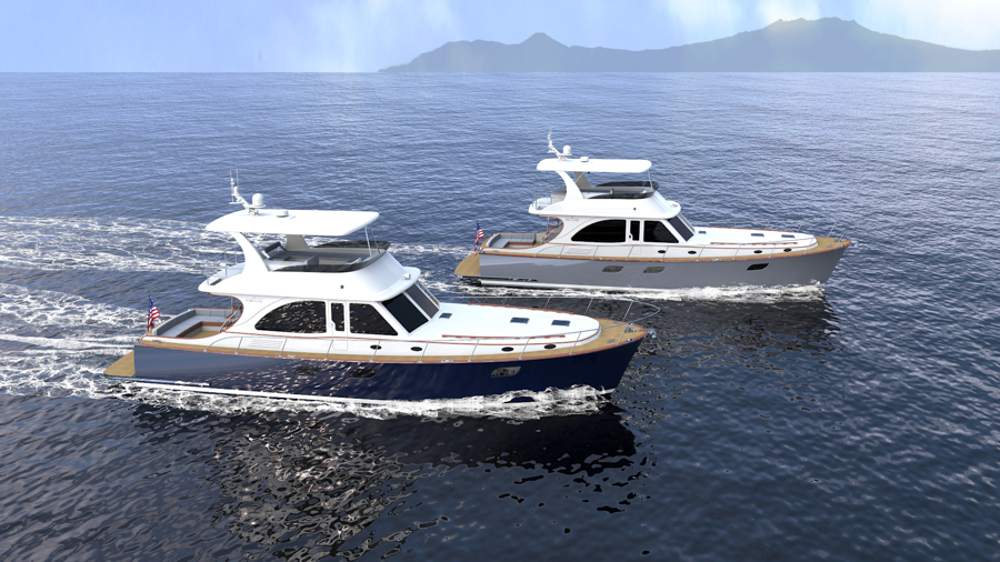 renders of the new Vicem Yachts 65 classic