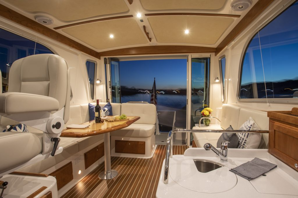 interior living onboard the Back Cove 372