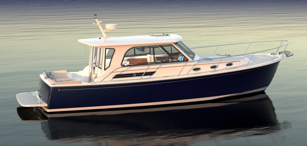 side profile of the Back cove 372