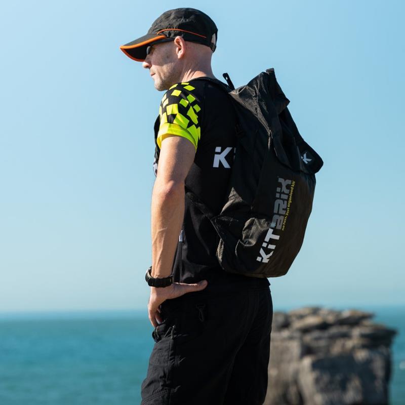 Kitbrix backpack being worn by man