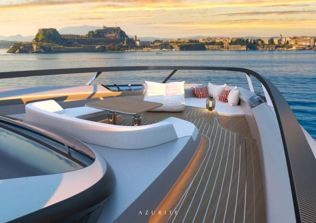 Front deck onboard the Infinit-e 88