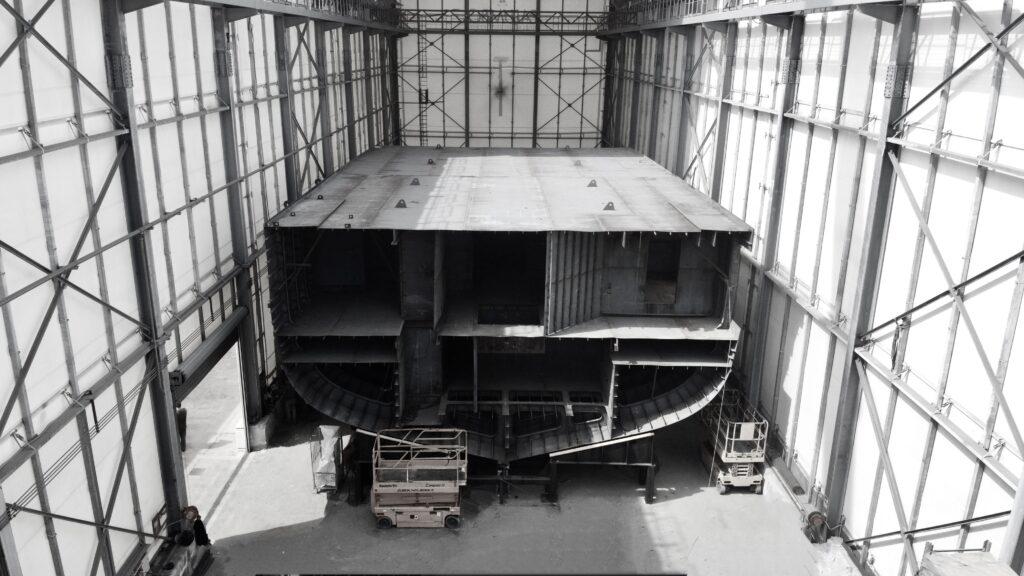 ISA Continental steel hull under construction