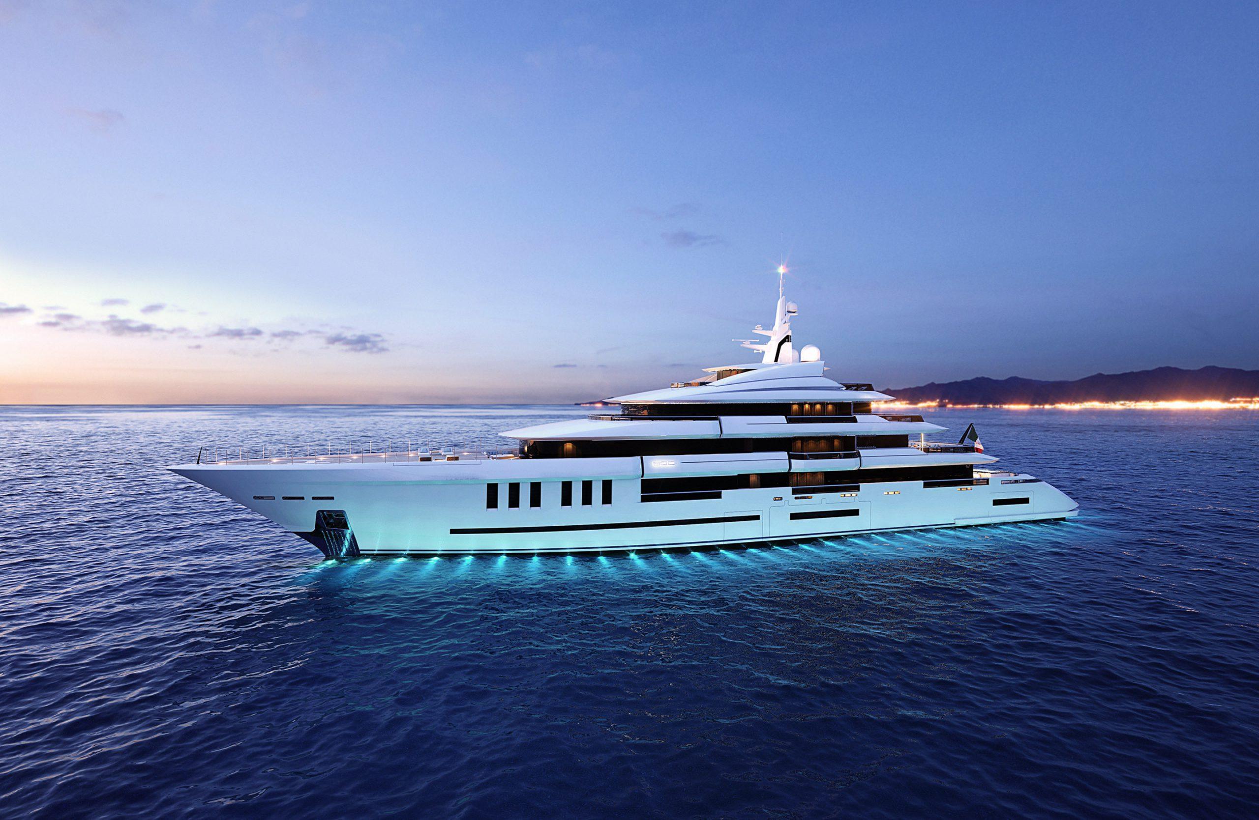 ISA Yachts Continental 80m render
