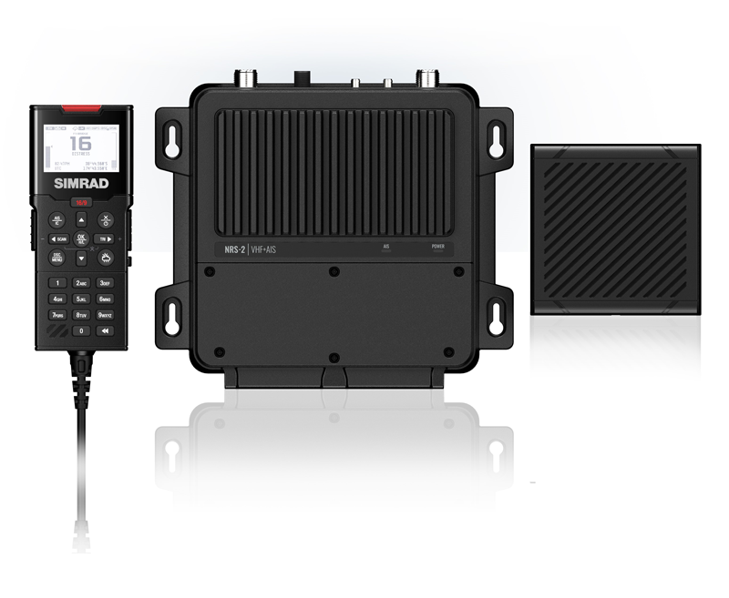 Product shot for Simrad vhf system