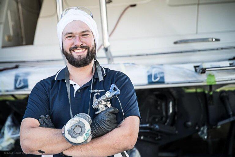 GCCM marine contractor smiling