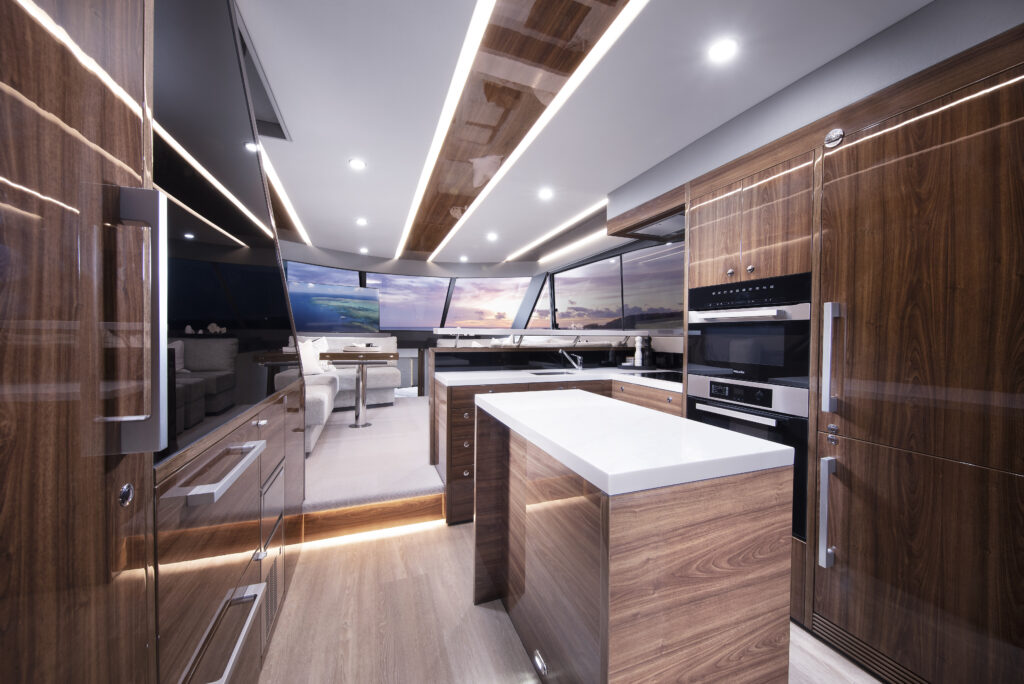 galley onboard Maritimo M60