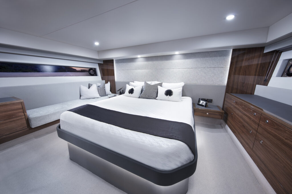 master suite onboard the Maritimo M60