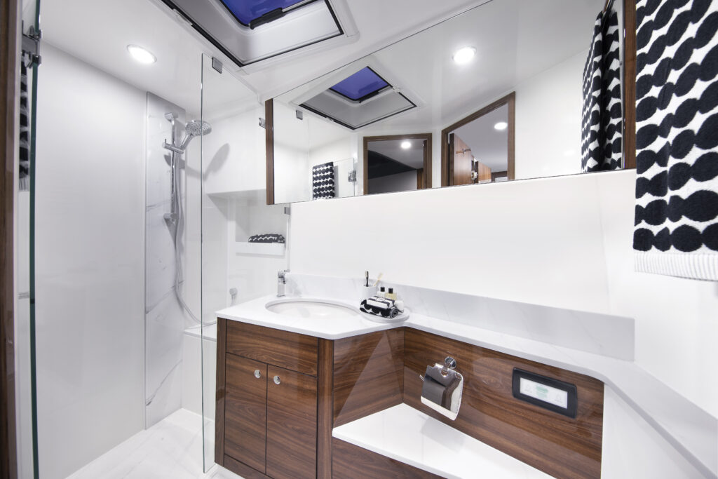 ensuite onboard the Maritimo M60