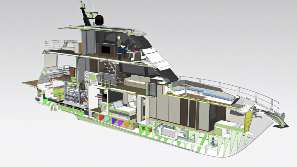 cross section of the Riviera 78