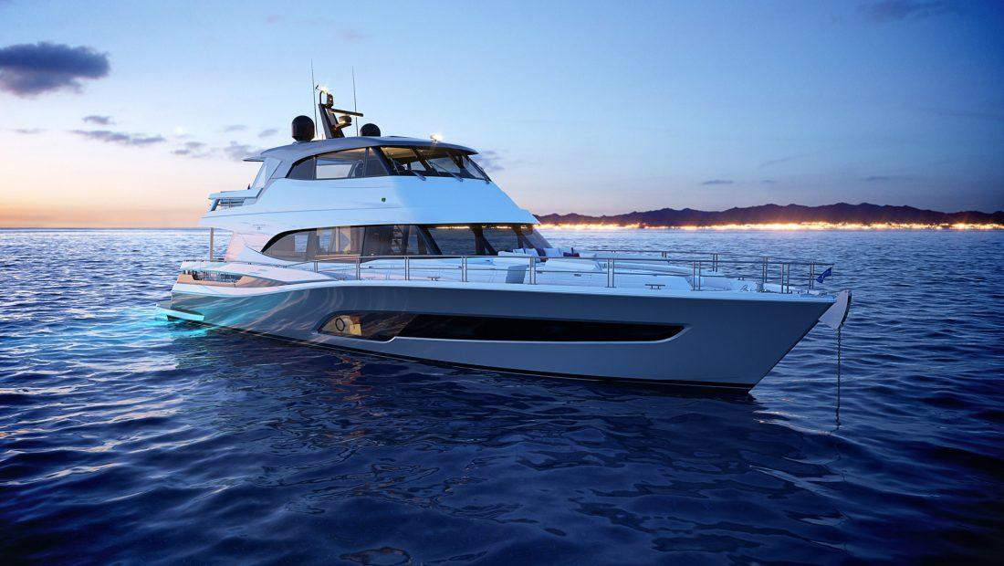 render oft he Riviera 78 Motor Yacht