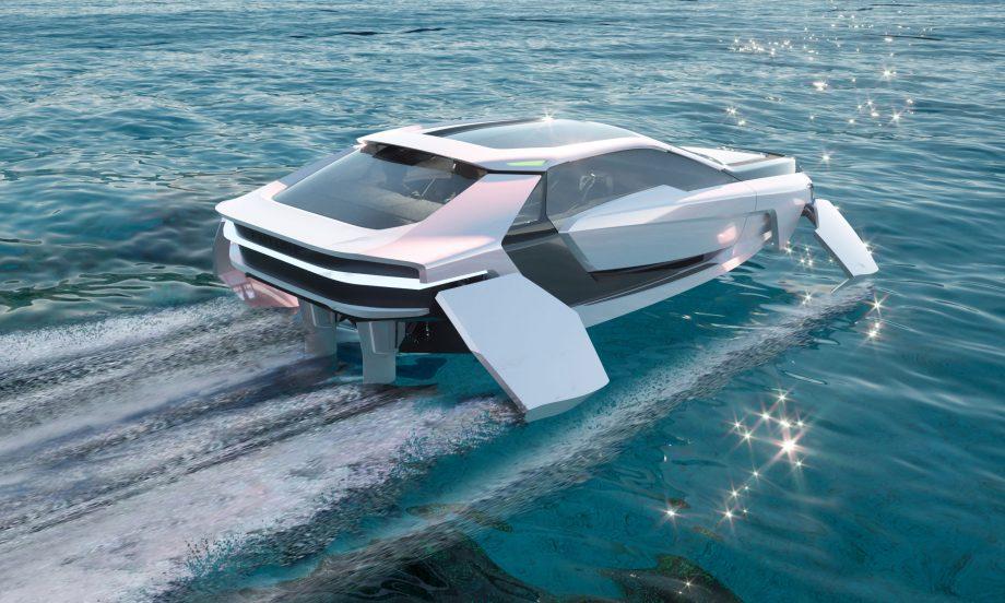 render of Futur-E cruising