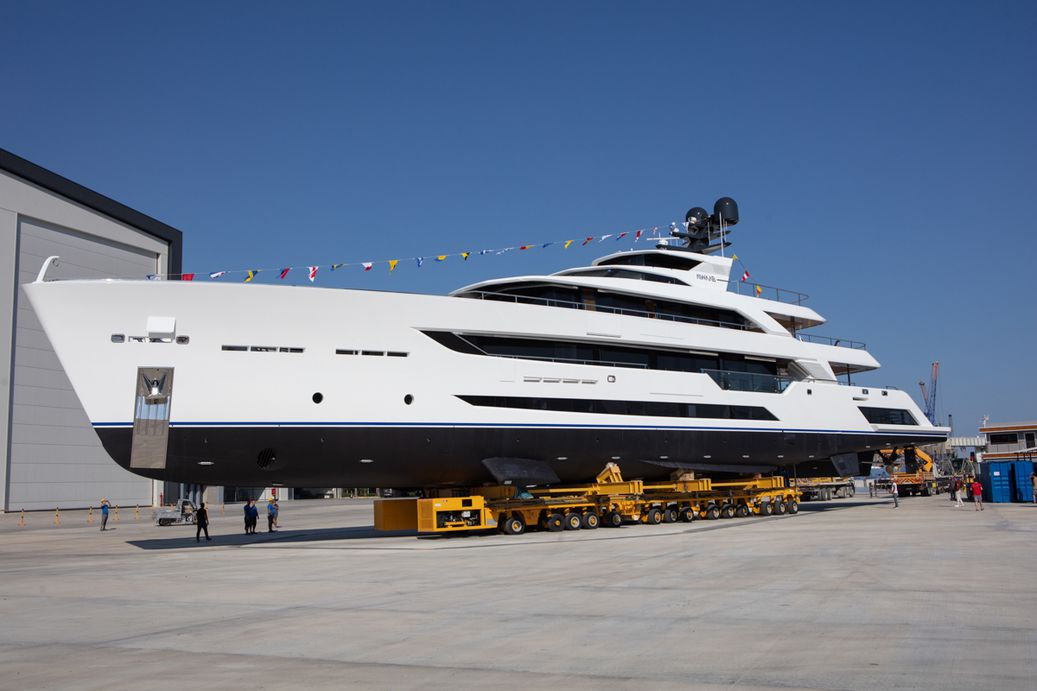 Al Waab by Alia Yachts being launched