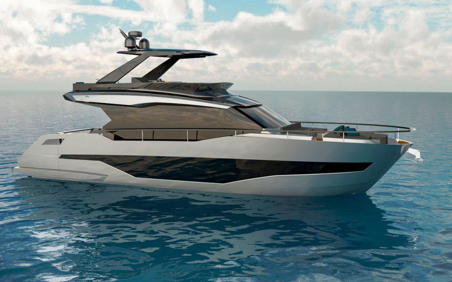 exterior side profile onboard Astondoa AS5