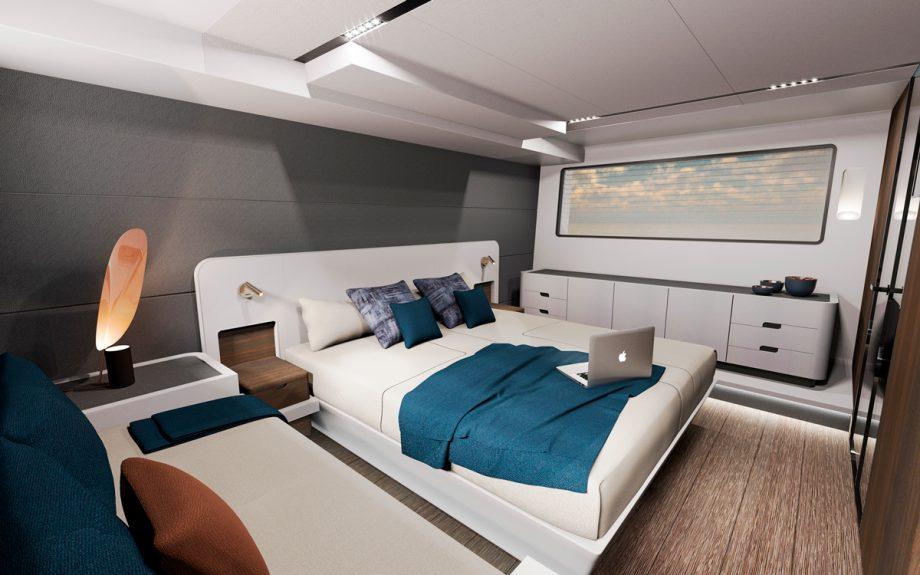 owners cabin onboard Astondoa AS5