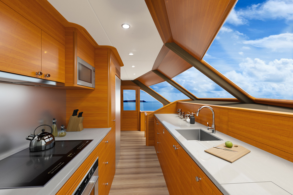 Grand Banks 85 Galley